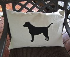 lab silhouette pillow