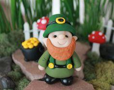Bebé de arcilla de polímero Gnome  miniatura bebé Gnome