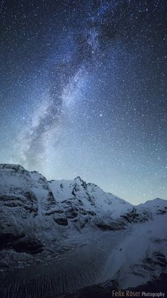 Milky Way over the mountain