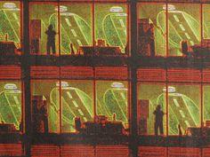 City Lights Fat Quarter Yard Cotton Fabric Original City Textile