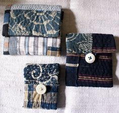 small pouch/purse/wallet in antique Japanese fabrics by lesamovar, €28.00