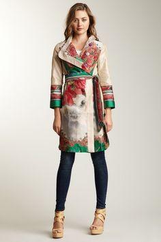Desigual Natalia Floral Jaguard Coat - http://www.hautelook.com/short/3AL7U