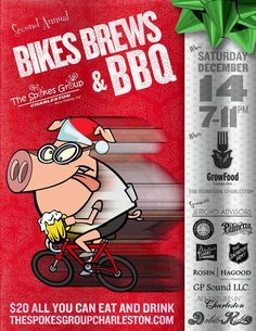 Bikes Brew & BBQ on Saturday, December 14th!  Purchase your tickets in this pin!