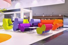 Nowy Styl Group at Orgatec: Modern Office and Facility'12 - HEXA seating system designed by Przemysław 'Mac' Stopa