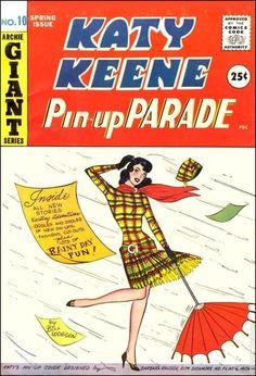 Image detail for -bill woggon comics katy keene vintage 1960 rainy day