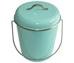Découvrez cette Poubelle de salle de bains ou cuisine 6 L Waterquest menthe en vente sur la boutique en ligne déco Lili's.