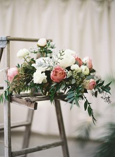 Fresh peony bouquet: http://www.stylemepretty.com/2016/05/13/this-disney-inspired-wedding-is-the-ultimate-fairytale/ | Photography: Ozzy Garcia - http://ozzygarcia.com/