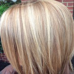 Dimensional blonde #highlights #lowlights I want this hair color but with the carrie underwood blonde ;)