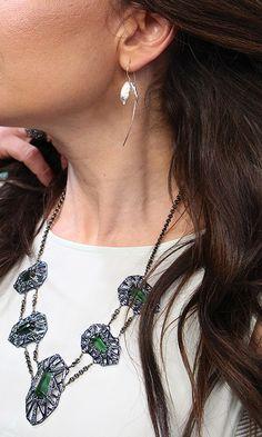 Silver Earrings by Bom Bom Jewelry #WNTW