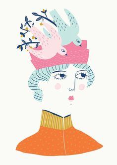 Victorian Lady - Portrait - Illustration - Fashion Illustration - Editorial Illustration - Book Illustration - Alice Potter #illustration #portrait #art #editorial #characterdesign #victorian #fashionillustration