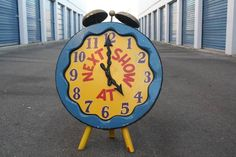 "Items similar to Vintage ""Next Show Time"" Circus or Carnival Clock on Etsy"