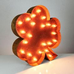 """Rustic 24"""" Shamrock Marquee Light from The Rusty Marquee"""