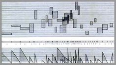 """Stockhausen """"Studie II"""" (Elektronische Musik) - A common aspect of graphic notation is the use of symbols to convey information to the performer about the way the piece is to be performed. These symbols first began to appear in the works of avant-garde composers such as Roman Haubenstock-Ramati, Mauricio Kagel, György Ligeti, Krzysztof Penderecki, Karlheinz Stockhausen, and Iannis Xenakis, as well as the works of experimental composers Earle Brown, John Cage, Morton Feldman, and Christian…"""