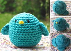 Crocheteando pajarulis Crochet Baby Toys, Crochet Birds, Crochet Animals, Knit Crochet, Crochet World, Crochet Christmas Decorations, Diy Projects To Try, Yarn Crafts, Knitted Hats