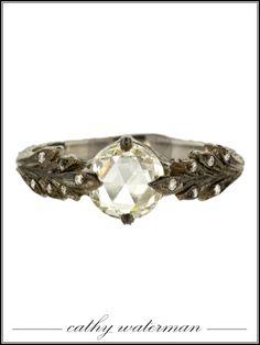 Cathy Waterman platinum and moghul diamond leaf ring, $14,120twistonline.com