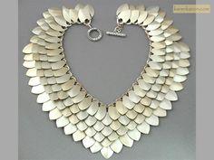 Tapered Scale Maille Collar -KarenKaron
