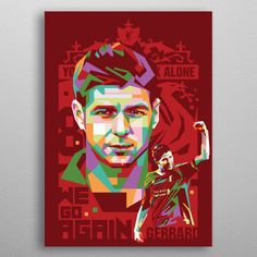 Want a metal print copy?: Visit Artist Store Description: Pin By: icalsaid Pin Board: DISPLATE Source: Displate Liverpool Football Team, Liverpool Anfield, Liverpool Players, Football Football, Pop Art Posters, Poster Prints, Steven Gerrard, Professional Football, Pinterest Photos