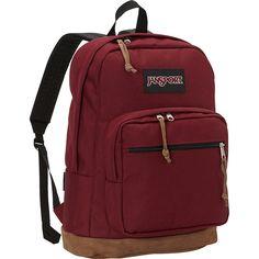 JanSport Right Pack Laptop Backpack ($80) ❤ liked on Polyvore featuring bags, backpacks, laptop backpacks, red, rucksack bag, handle bag, laptop pocket backpack, jansport rucksack and red laptop bag