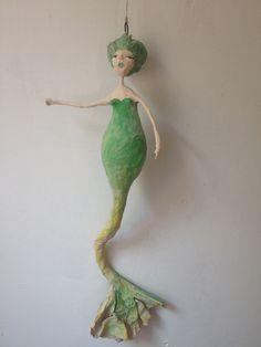 Papermache artdoll mermaid