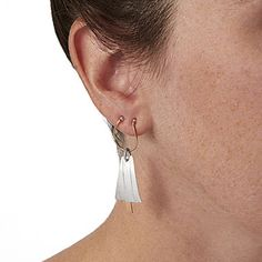Mixed Metals Double Piercing Earrings