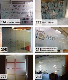 Esmerilados dise os oficina ventanas vidrieras home for Disenos de oficinas modernas gratis