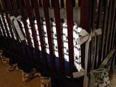 Dallas cowboys custom crib set