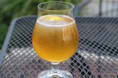Summer Shandy Beer Drink Recipe Beverages with lemonade, beer, lemon wedge