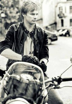 Bradley James + Motorcycle = awesome