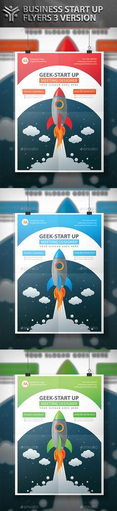 Start Up Flyer Design — Vector EPS #banner #paper