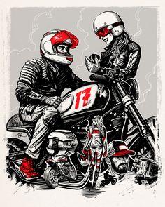 Helmet & Apparel Catalogue cover illustration for Tucker Rocky by Adi Gilbert - 99seconds.com