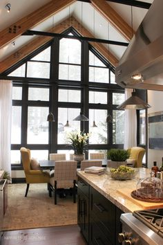 Kitchen and Dining Room at the 2014 HGTV Dream Home