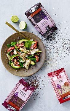 Rapea avokado-kvinoasalaatti Lchf, Hummus, Quinoa, Sushi, Mexican, Yummy Food, Healthy, Ethnic Recipes, Spinach
