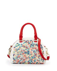 Christian Louboutin Panettone Small Spiked Satchel
