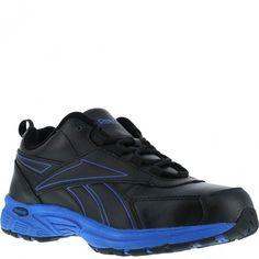 RB4830 Reebok Men's Cross Trainer Safety Shoes - Black/Blue www.bootbay.com