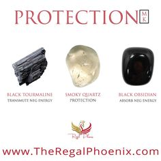 The Protection Mini Kit is a beautiful combination of Black Tourmaline, Smoky Quartz & Black Obsidian healing crystals. These gemstones protect you from negative energy and psychic attacks. Chakra Crystals, Crystals And Gemstones, Stones And Crystals, Natural Gemstones, Crystals Minerals, Buy Crystals, Crystal Guide, Crystal Magic, Crystal Healing Stones
