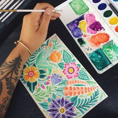 Cusco's energy and vibrant colors have inspired me to try something new! One of my goals this year was to expand my skillset and try new forms of illustration. Watercolors might be my new favorite thing! Painted with the Crayola watercolors I bought...