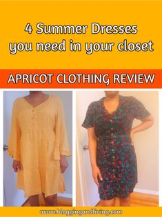 4 Summer Dresses you need in your closet | Apricot Clothing Review | Casual Fashion .. These are the best Summer Dresses in 2021. Get them today! I'm a women size 12 and these dresses are great for a midsize girl. Get this midsize fashion and midside style today! Check out these 4 dresses you need! #GIFTED Affordable Fashion, Unique Fashion, Kids Fashion, Fashion Outfits, Apricot Tart, Cute Dresses, Cute Outfits, Best Summer Dresses