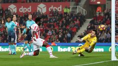 Stoke's Wilfried Bony nets brace to haunt his former team Swansea