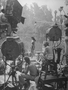 size: 24x18in Premium Photographic Print: Maria Montez Being Filmed for a New Movie Being Produced by Walter Sanders : Artists