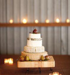 Rustic cheese wedding cake. Mmmm!