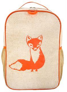 RAW Linen - Orange Fox Grade School Backpack