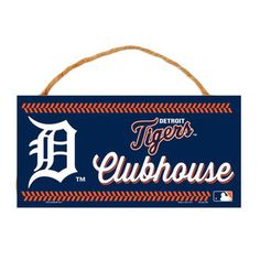 """Detroit Tigers WinCraft 5"""" x 10"""" Rope Wood Sign"""