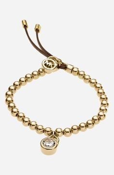 Michael Kors 'Brilliance' Beaded Stretch Bracelet available at #Nordstrom