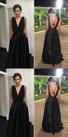 Long Prom Dresses Black, Ball Gown Formal Evening Dresses Modest Military Ball Dresses with Pockets, V-neck Pageant Graduation Party Dresses Satin Prom Dresses With Pockets, Prom Dresses For Teens, Black Prom Dresses, Prom Dresses Online, Formal Evening Dresses, Homecoming Dresses, Elegant Dresses, Sexy Dresses, Party Dresses