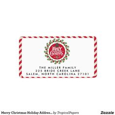 Merry Christmas Holiday Address Labels SOLD, thank you to the customer in NJ