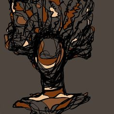 This started out as a tree then some how morphed to a head of hair