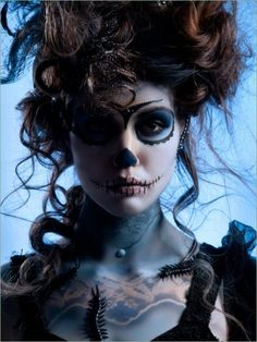 i love the day of the dead makeup trend