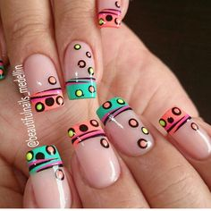 100 Purity Polka Dot Nail Designs For Trendy Girls NALOADED is part of Prom nails Videos Art - Purity Polka Dot Nail Designs, You always suppose that solely subtle styles will rock your nails I Nail Manicure, Toe Nails, Dot Nail Designs, Nails Design, Polka Dot Nails, Polka Dots, Funky Nails, French Tip Nails, Summer French Nails