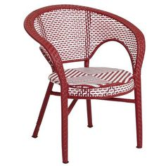 Woven patio chairs-- they remind me of French sidewalk cafés