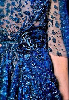 <3 Brilliant blue texture couture